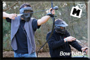 archery tag, bow battle, shoot out, handbooggevecht, bow tag, arrow tag, ace paintball, mannenspeeltuin
